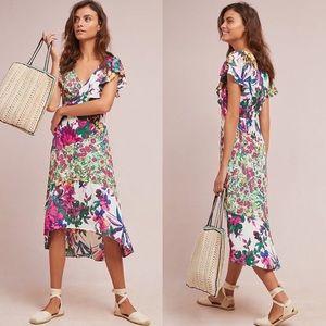 Anthro Tracy Reese XXSP Ennis Floral Dress Hi Lo